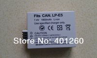 1800MAH Battery For canon LP-E5  1000D 450D 500D LPE5 Digital camera