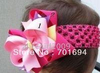 Wholesale - -girls hair beautiful headbands with hairbows -soft crochet headband 120pcs