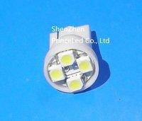 Wholesale Free shipping,T10 3528 4smd 4 SMD LED , backup lamp door lamp T10 194 168 192 W5W  t10 led light 24v