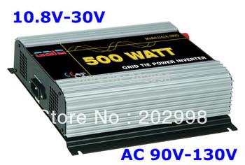 500W Micro on Grid Tie Inverter solar/wind power DC 10.8V~30V to AC 90V~130V free shipping