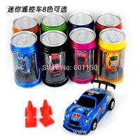 2014 Free shipping Coke Can Mini RC Radio Remote Control Micro Racing Car Radio Control Toys