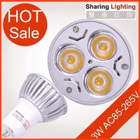 Holiday sale wholesale 20pcs/lot 3W LED spot lamp,GU10 spotlight bulb dimmable