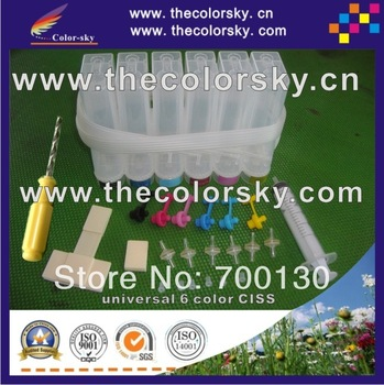 universal 6 color CISS continuous ink system kit with accessaries free shipping by DHL