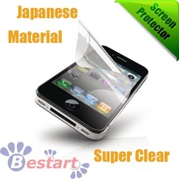 Free shipping, Super Clear (Front) screen protector for iphone 4G/4S With Retail Package, high quality, Japanese Mterial