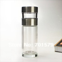 Fuguang  chinese tea  cup 260ml  281-260 double-layer tea master crystal glass water  bottle (Simple packaging)