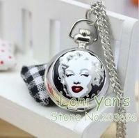 10pcs/lot Fashion Pocket Watches Women Necklace Quartz Watch