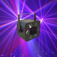 LED effect light with six eyes for dj &  party 12pcs/lot Free shipping