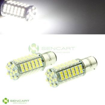 1157  102 SMD LED Super White 3528 LED Car Tail Brake Bulb Turn signal    Reverse light  Brake lights Taillights Free Shipping