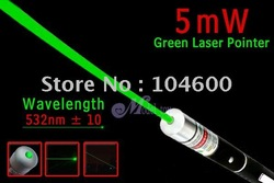 free shipping 5mW 5 mW 532nm Green Beam Laser Pointer Pen without battery and box 150pcs/lot DHL/EMS(China (Mainland))
