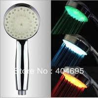 FREE SHIPPING,WHOLESALE Shower Water Temperature Shower Faucet LED Light!!
