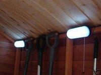 Indoor Shed 5 LED Light +Solar Powered Panel Garden Lamp+5LED Shed Light