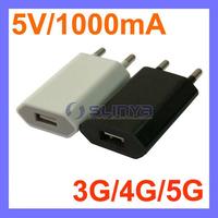 5V 1000mA AC Power USB Wall Charger For iPhone 4 4S 3GS iPod EU Plug