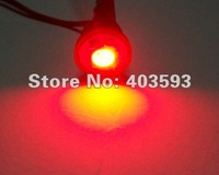 FREE SHIPPING 10Pcs T10 WEDGE 5050 3CHIPS LIGHT 1SMD LED BULBS RED