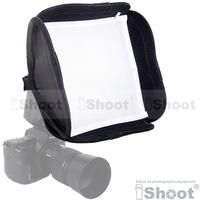 iShoot 23*23cm mini Flash Speedlite Softbox Soft box diffuser Two soft layers with bag