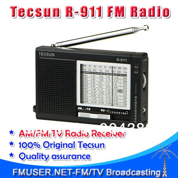 Freeshipping+ wholesale Tecsun R-911 AM/ FM / Shortwave (11 bands) Multi Bands Radio receiver broadcast(China (Mainland))
