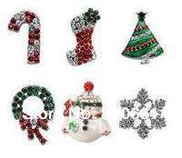 MOQ:12pcs!Free Shipping!Top Quality!10mm Rhinestones Christmas Slide Charms