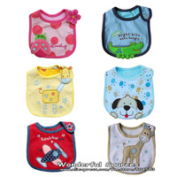 free shipping+50pcs/lot Baby bibs, Infant saliva towels/ 3-layer Baby Waterproof bibs, baby wear,200designs