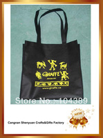 black animal nonwoven shopping bag