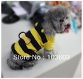 Super cute little bee transfiguration clothing, pet Teddy fleece clothes, 2013 spring dog clothes Free Shipping