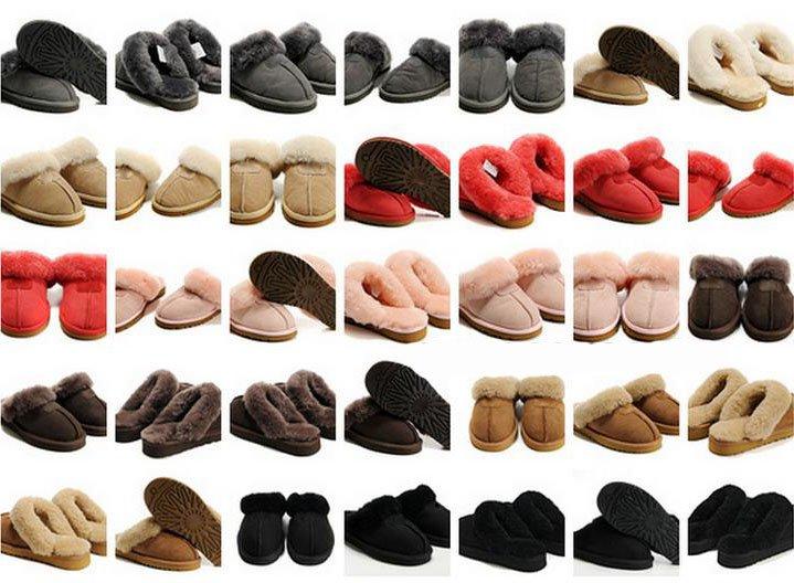 Presente de natal chinelos de pele de carneiro 7 colors chinelos inverno(China (Mainland))