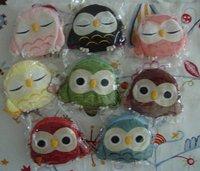 Wholesale Wj530 Japanese Owl purse coin case wallet 8 pcs