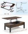 Lift up coffee table mechanism B01