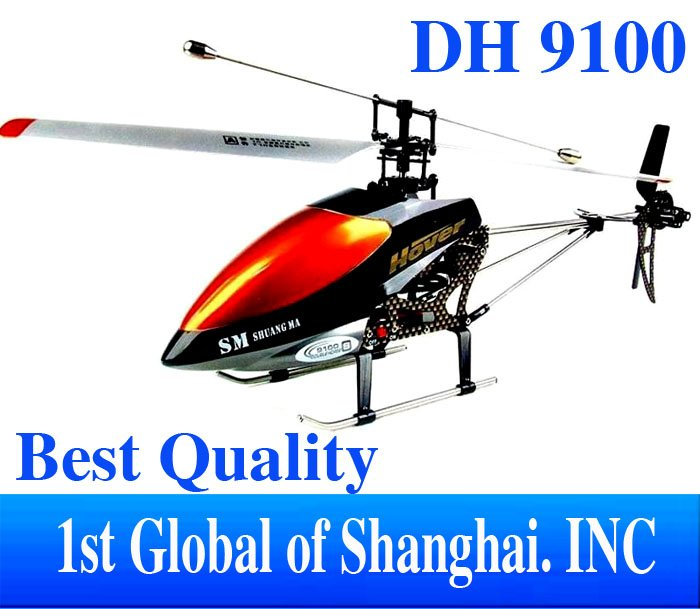Free shipping Christmas Gifts DH9100 3.5Ch Remote Control Helicopter Single Blade with Gyro Toys For Children (English packing)(China (Mainland))