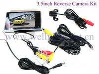 "3.5"" lcd monitor mini reverse camera of 170 degree car monitor system"