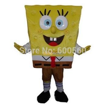 Fancytrader New Arrival Hot sale Sponge bob Mascot Costume Fancy Dress Costume Free Shipping FT20015