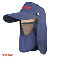 fishing hats/cap 2013 New Visor Fishing Camping Cap Hat Front Back Hooded UV Cut MZ15 wholesale price