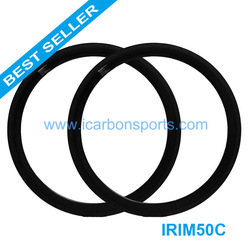 Free shipping EMS!IRM50C 50mm bicycle carbon clincher rim, carbon rim 50mm(China (Mainland))