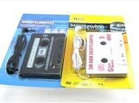 400pcs/lot*3.5mm jack CAR Audio CASSETTE TAPE ADAPTER FOR iPhone Samsung Galaxy S3/S4 Nano MP3 IPOD NANO CD IPHONE