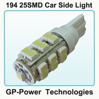 2012 Newest Free shipping+10pcs/lot+25SMD  T10 194 car LED for Car Interior Light