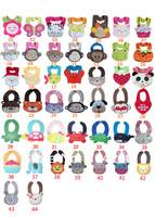 60 pieces/lot-44 designs Animal style cotton Baby bibs/cotton bibs/waterproof bib