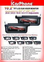 """10.2"""" SUN VISOR TFT LCD MONITOR car monitor lcd screen sunvisor monitor"""