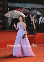 free shipping 100pcs/lot transparent poe/pvc umbrella,mixed colors supported