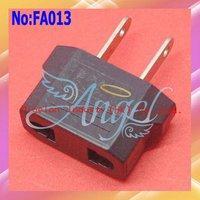 Wholesale 1000pcs/lot Universal electrical AC Power Plug Adapter,EU to US Converter Travel Adapter Plug,Shipping Via DHL  #FA013