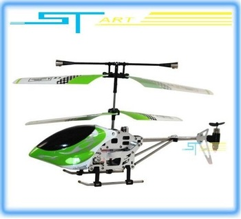 2PCS Hot sale Mini 8010A Remote Control LED 3ch metal rc helicopter RTF Ready to fly  with LED light + Free Gift 2014