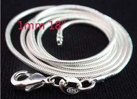 wholesale 20pcs 925 sterling Silver 1.2mm Snake Chain 18 inch FREE Shipping,925 silver chain necklace,925 silver jewelry