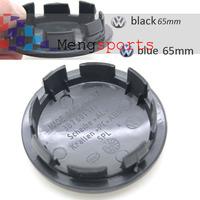 100 Piece 3D Badge Black Blue Wheel Center Caps 65mm Emblem Sticker