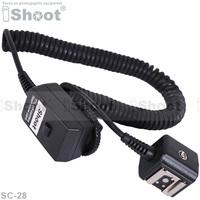 2.5m iShoot off camera FLASH Sync i-TTL  Remote Cable Cord case for Nikon D7000/D5000/D90/D3X camera SB900/SB800 flash