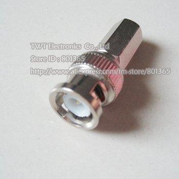 Free shipping RG59 coaxial cable twist on BNC camrea connector BNC MaleTwist-On Plug CCTV Cable BNC male twist on RG59/U 100pcs