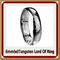 Mens 6mm Unique Laser Lord Of Tungsten Rings Engagement Wedding Band Rings Gift
