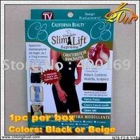 30pcs/lot ES Free Shipping 1PC/box Beige or black Slim n lift Slim Pants Body Shaper with straps