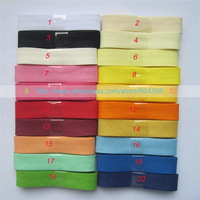 20 colors Free shipping  Cotton White Bias Tape Wide 15mm Double Fold FULL BOLT , 25Yards / Lot