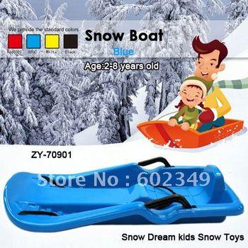 Hot Sale Free Shipping Plastic Kids winter ski snow sledge