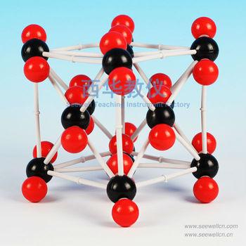 XCM -007 - El dióxido de carbono Molecular Crystal Modelo (CO2 ) - conjunto modelo molecular