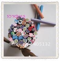 Free Shipping 5MM 100pcs-Mixed Cute Animal Cane Fancy Nail Art  Polymer Clay Mixed Animal Series