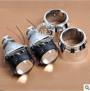 FREE SHIPPING Mini HID Bi-Xenon Projector Lens, Mini Size Easy For Installation,Along with Shroud