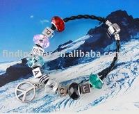 FREE SHIPPING 3PCS European Style Peace Bead Charm Bracelet #20064